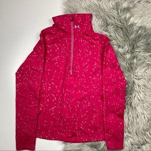Under Armor Reflective Pink Half Zip Pullover